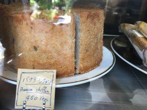 バナナのシフォンケーキも一切れ450円